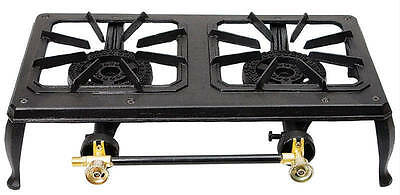 Double Cast Iron Gas Boiling Ring/burner - Catering/stove/camping/lpg/propane