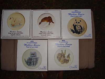 Goebel Mother's Series Plates Hand Painted Signed S Bochmann Orig Box Sold Each