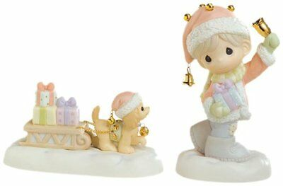 """Precious Moments """"sleigh Bells Ring"""" 2 Pc Set 610012 Brand New In Box"""
