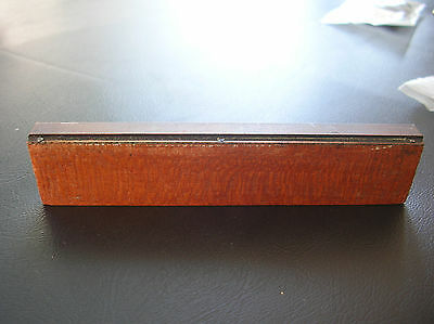 Antique Vintage Copper BAR  Printing Wood Block Printers Stamp WOW 4 1/4""