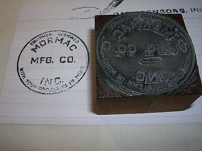 MORMAC MFG CO INC Equipment Vintage Wood Block Printing PRINTERS Stamp Unusual