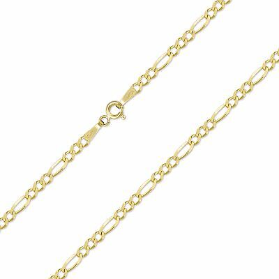 """10K Solid Yellow Gold Custom Figaro Choker Necklace Chain 1.5-3mm 11-15"""" - Link"""