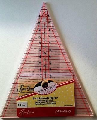 Sew Easy Triangle Patchwork Quilt Craft Ruler 8.5 Inch X 7 Inch