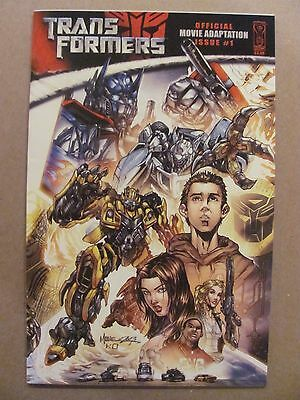 Transformers Official Movie Adaptation #1 IDW 2007 Series 9.4 Near Mint