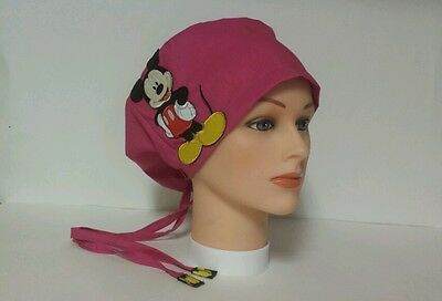 Mikey  Mouse  / Hat Pixie / Scrub Surgical / Medical Chemo / Cap