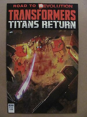 Transformers Titans Return #1 IDW 2016 One Shot Road to Revolution 9.6 NM+
