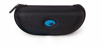 Costa Del Mar -- BLACK/BLUE SUNGLASS CASE Zippered  with Costa cleaning cloth