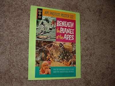 1970 Gold Key Beneath The Planet of the Apes Poster In Solid Fine Free Shipping