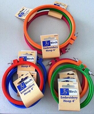 "Plastic Embroidery Hoop For Stitching Cross Stitch Size 10Cm (4"") Or 15Cm (6"")"