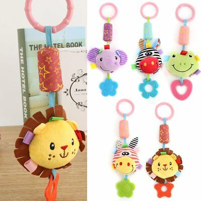 Cute Baby Infant Rattles Plush Animal Stroller Hanging Bell Play Toy Doll Soft