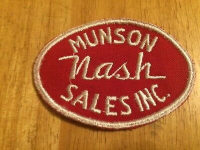 Vintage Munson NASH Sales INC. patch