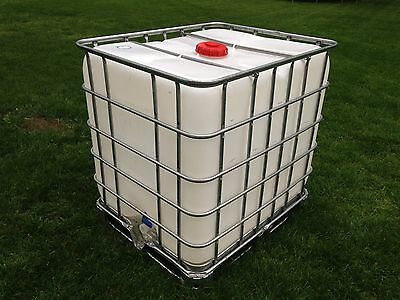Clean plastic FOOD IBC Maple sap water storage tanks 275 gallon tote container
