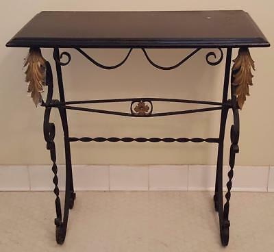 Wonderful Early 20th Century Wrought Iron Table with Lacquered Wood Top - VGC
