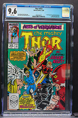 Thor #412, CGC: 9.6, (Dec 1989, Marvel)