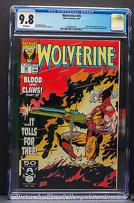 Wolverine #36, CGC: 9.8, (Feb 1991, Marvel)