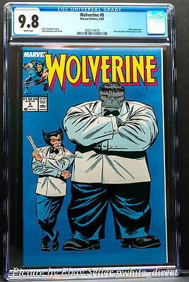Wolverine #8, CGC: 9.8, (Jun 1989, Marvel)