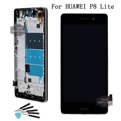 LCD Screen For Huawei P8 Lite Display Touch Digitizer Black Replacement +Frame