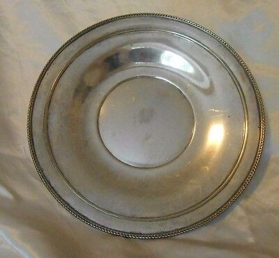 "Antique Sterling Silver Wallace 9  3/4"" diameter Charger/Plate"