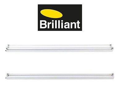 BULK OFFER Fluro Batten Light Fixture Single Or Double Brilliant Light 4000 Lum