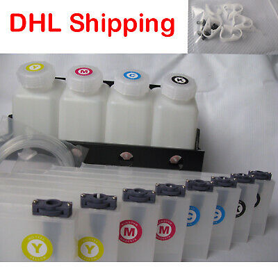 Bulk Continuous Ink Supply System For Mimaki jv33/jv3 /JV5 4 bottles,8 Cartridge