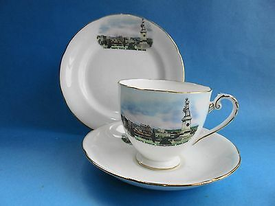 Colonel Lights Statue Over Looking Adelaide Trio Cup Saucer Plate Royal Grafton