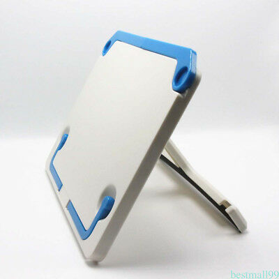 White Foldable Tablet Tablature Bookend Book Stand Reading Book Holder Plastic U