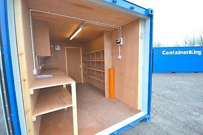 New Build 20Ft X 8Ft Shipping Container Workshop And Store - Including Vat