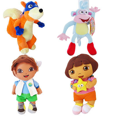 4pcs Dora The Explorer Boot Fox Diego Kid Child Baby Plush Doll Stuffed Soft Toy