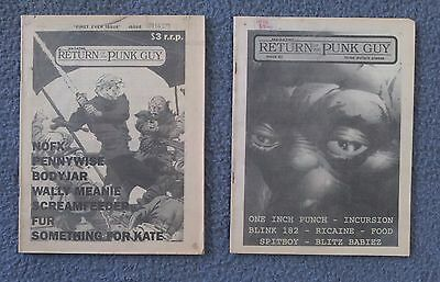 Return Of The Punk Guy Magazine 1989 (Extremely Rare!) Very First Issue #1 & #2