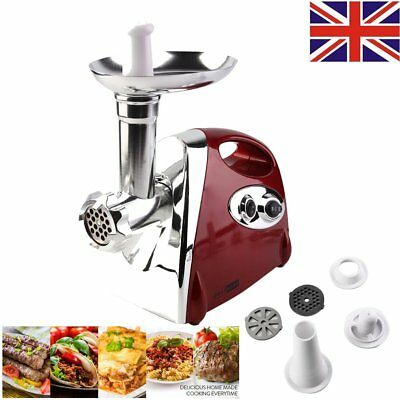 2017 Heavy Duty Electric Stainless Meat Mincer Grinder Sausage Filler 2000W Red