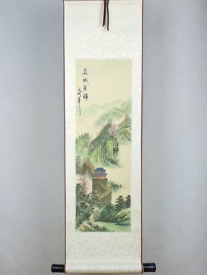 CHINESE SCROLL PAINTING Hand Painted Paper Silk GREAT WALL Of CHINA