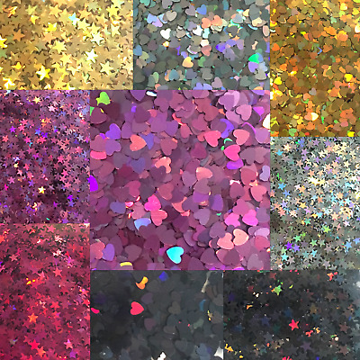 Laser Holo Glitter Mini Confetti Shapes Solvent Resistant USA Seller Buy 6 get 3