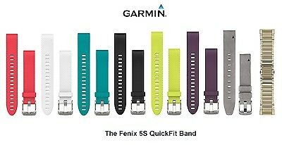 Garmin Fenix 5s QuickFit Watch Band 20mm Replacement Adjustable Strap Silicone