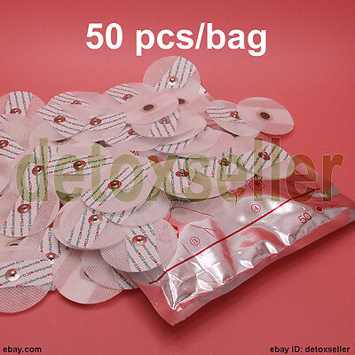 Portable Disposable Electrode Pads F ECG EKG Heart Monitor Conductive 1pack 50pc