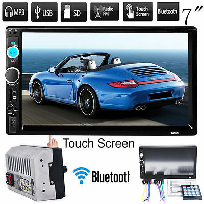 """7"""" Car FM/MP5 Player Touch Screen In Dash Stereo Radio Bluetooth Double 2 Din UK"""