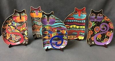 Lot of 5 LAUREL BURCH ROYAL DOULTON Cat Plates 1995 Limited Edition