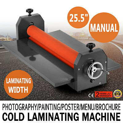 25.5In Cold Laminator Manual Roll Laminator Vinyl Photo Film Laminating Machine