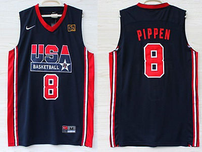 Scottie Pippen Stitched BLUE 92 Dream Team Olympics Throwback Swingman Jersey