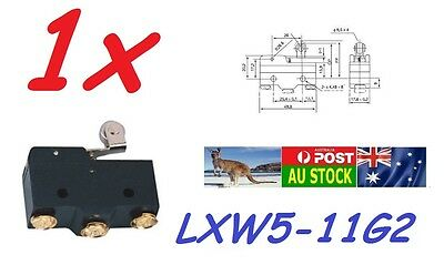 .LXW5-11G2 Momentary 1NO 1NC SPDT Long Roller Hinge Lever Micro Limit Switch AU