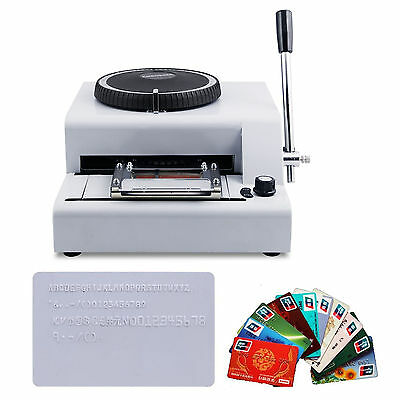Hot Sell 72-Character PVC Manual Credit Card Embossing Machine Embosser