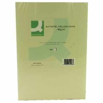 Q-Connect Yellow Coloured A4 Copier Paper 80gsm Ream (Pack of 500) [KF01096]