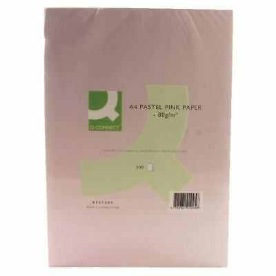 Q-Connect Pink Coloured A4 Copier Paper 80gsm Ream (Pack of 500) [KF01095]