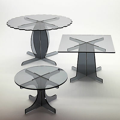 Meduim Cake Stand in 5mm Acrylic (Professional) for 10 inch cakes