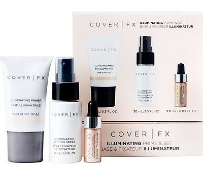 NEW Cover FX Illuminating Prime & Set - Setting Spray Enhancer Drops Primer Mini
