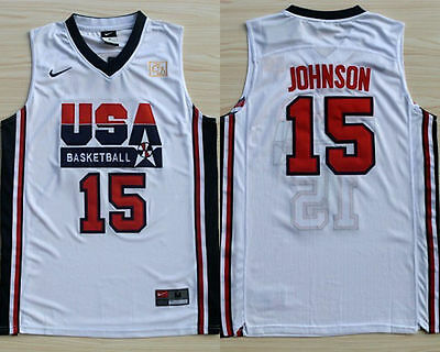Magic Johnson Stitched WHITE 92 Dream Team Olympics Throwback Swingman Jersey