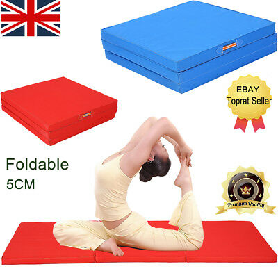 6FT Folding Gymnastics Mats Thick Exercise Gym Fitness Physio Pilates Indoor New