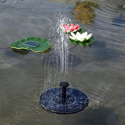 FAST Solar Powered Submersible Floating Fountain Garden Pool Pond Water Pump HOT