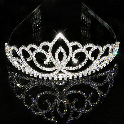 Rhinestone Bridal Wedding Crystal Hair Headband Crown Tiara Prom Comb Pageants