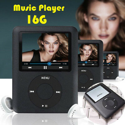 MP4 Player 16GB MP3 MP5 Music Media Video Slim 1.8″ LCD FM-Radio Games Recorder