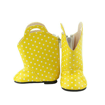Yellow boots  Doll shoes Wearfor 43cm Baby Born zapf (only sell shoes)